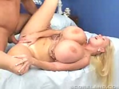 Kayla bouncing tits while riding cock