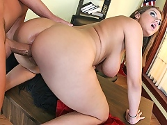 Jenna Doll gets fucked deep and hard by a big dick